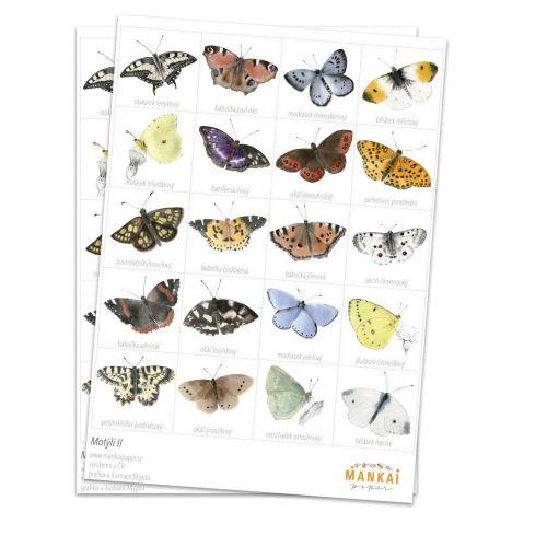 MANKAI Paper / Papierové pexeso Motýle II