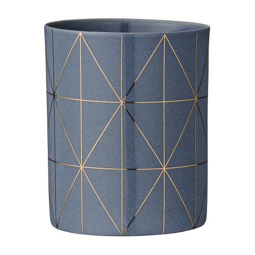 Bloomingville / Porcelánový svietnik na čajovú sviečku Grey&Gold