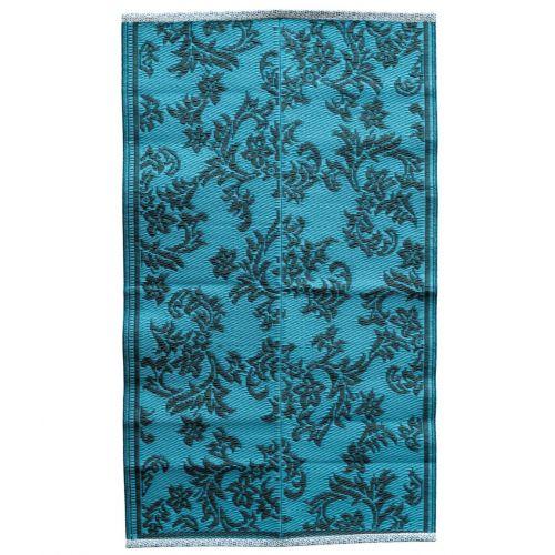 rice / Plastový koberec Dusty Blue 150x90 cm