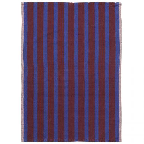 ferm LIVING / Kuchynská utierka Hale Brown/Navy Blue