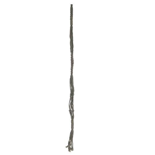 IB LAURSEN / Jutový záves na kvetináč Grey 95cm