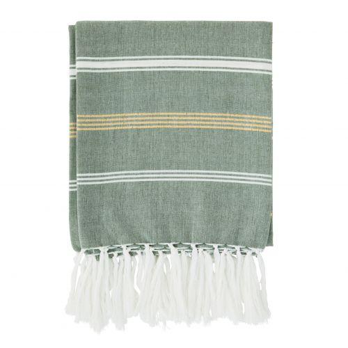MADAM STOLTZ / Bavlnená osuška Jade Striped 100×180 cm