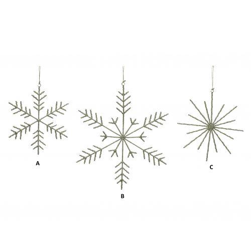 Hübsch / Dekorativna snehová vločka Jute