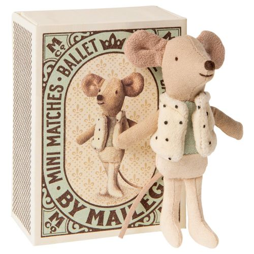 Maileg / Myšiak v krabičke od zápaliek Little brother Dancer