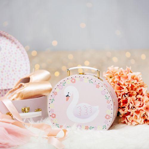 sass & belle / Detský kufrík Freya Pink Swan