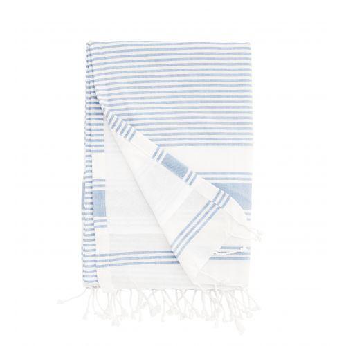 MADAM STOLTZ / Osuška Stripe Blue 90x180 cm