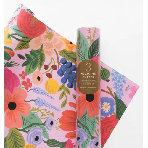 Rifle Paper Co. / Baliaci papier s kvetinami Garden Party - 3 listy