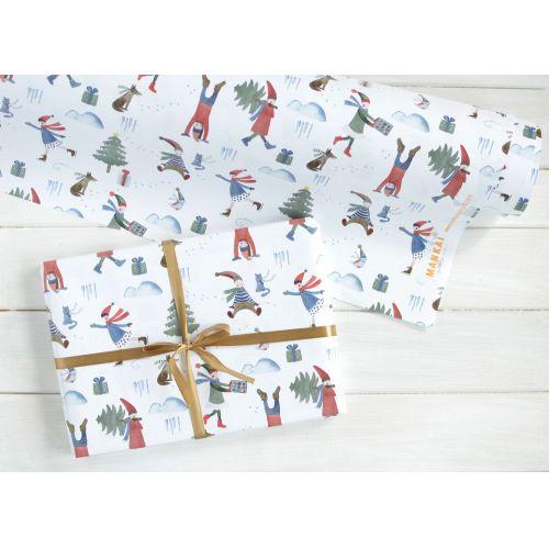 MANKAI Paper / Vianočný baliaci papier Škriatkovia