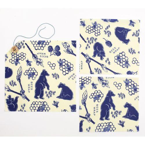 Bee's Wrap / Set ekologických obrúskov Lunchpack-3ks