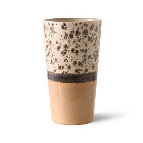HK living / Keramický latte cup 70's Tropical 280ml
