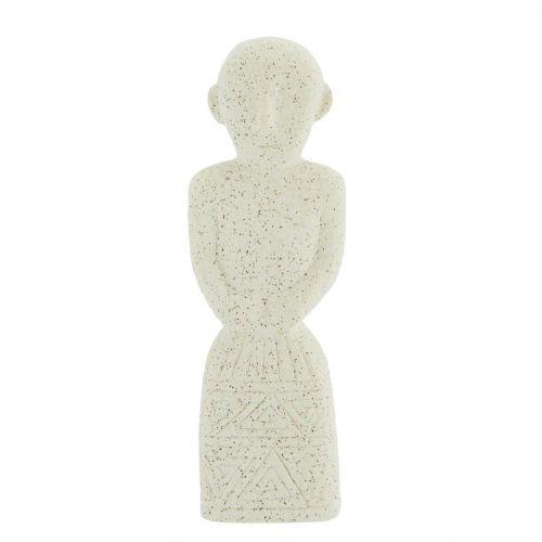 MADAM STOLTZ / Kameninová dekorácia White 20 cm