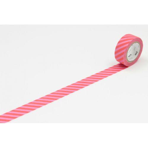 mt / Dizajnová samolepiaca páska Stripe pink x red