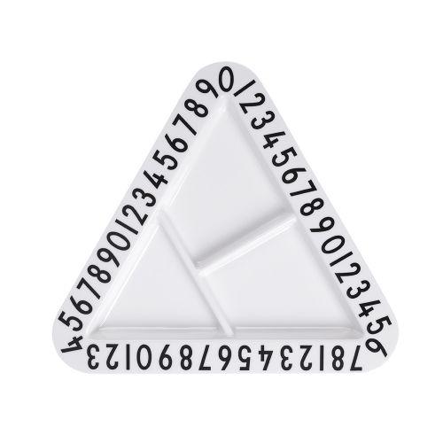 DESIGN LETTERS / Detský melamínový tanierik Triangular