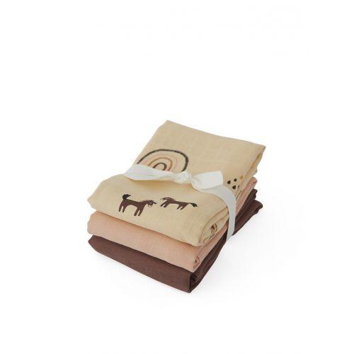 OYOY / Bavlnená plienka Muslin Rainbow - set 3 ks