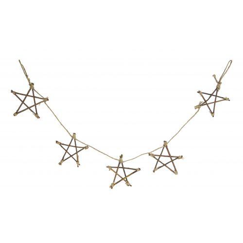 IB LAURSEN / Girlanda s drevenými hviezdičkami Stars