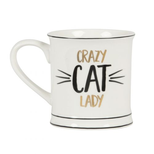 sass & belle / Porcelánový hrnček Crazy Cat Lady