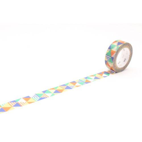 mt / Designová samolepicí páska Shimasankaku blue