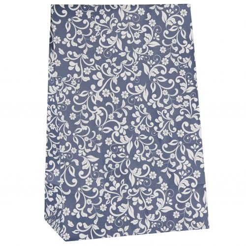 IB LAURSEN / Papierový sáčok Flower pattern Blue L