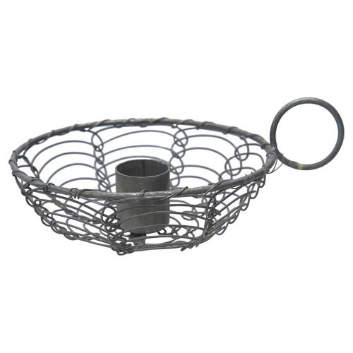 GREEN GATE / Kovový svietniček s uškom Wire Grey