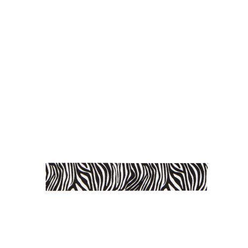 MADAM STOLTZ / Dizajnová samolepiaca páska Zebra black/white