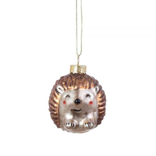 sass & belle / Sklenená vianočná ozdoba Baby Hedgehog