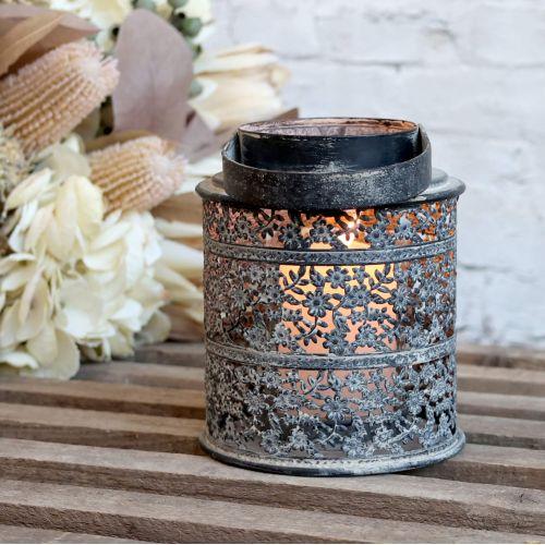 Chic Antique / Kovový lampáš Antique Zinc 14cm