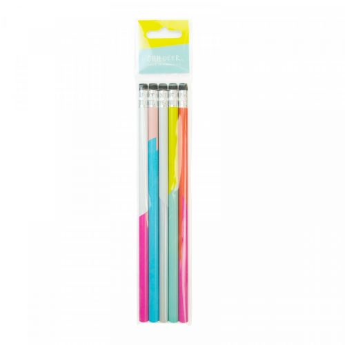 Ohh Deer / Ceruzky Colour Blocking Pencil - set 5 ks