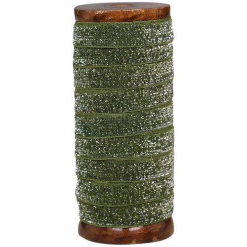 Chic Antique / Stuha s cievkou Moss Glitter - 5 m