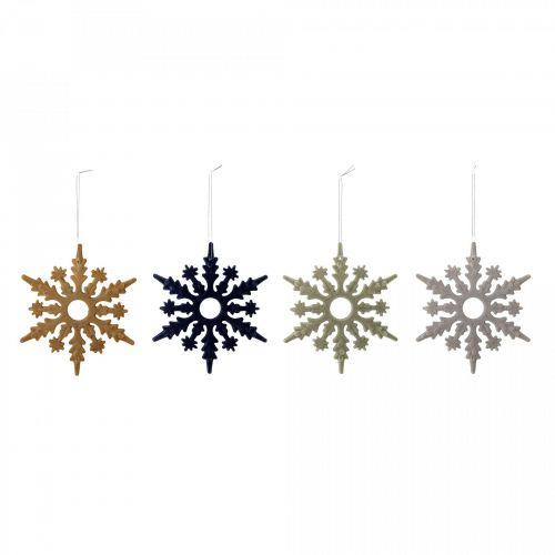 Bloomingville / Závesná ozdoba Snowflake Multi - set 4 ks