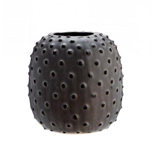 MADAM STOLTZ / Keramická váza Plastic Dots Grey