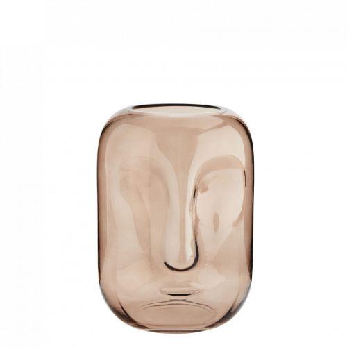 MADAM STOLTZ / Sklenená váza Face Imprint Rose