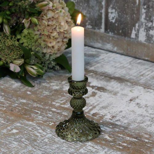 Chic Antique / Sklenený svietnik Olive Green