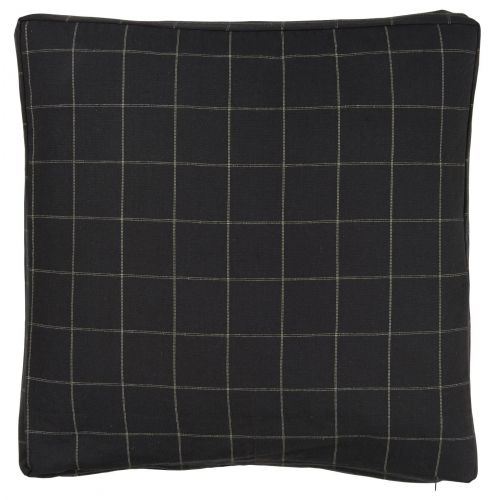 IB LAURSEN / Obliečka na vankúš checkered black 45 x 45 cm