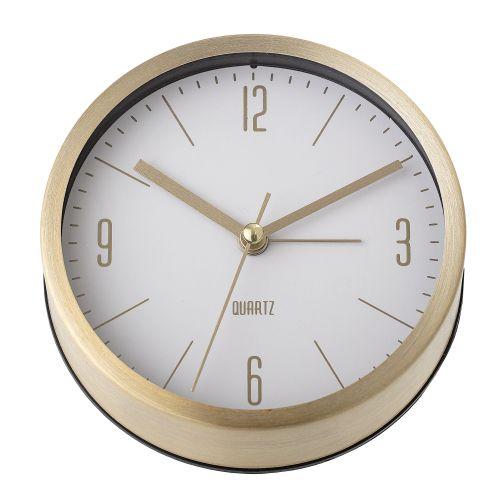Bloomingville / Stolné hodiny Aluminium Gold