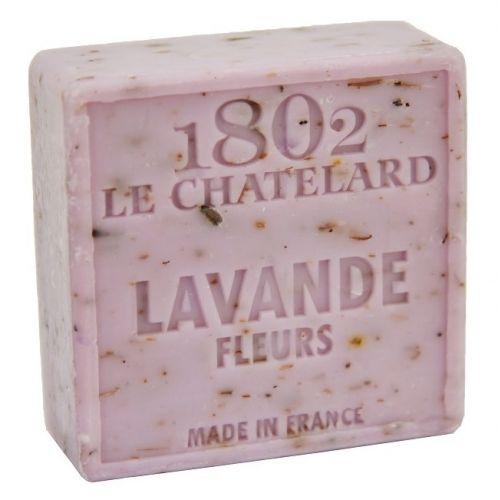 LE CHATELARD / Marseillské mydlo s peelingom - levanduľa kvet