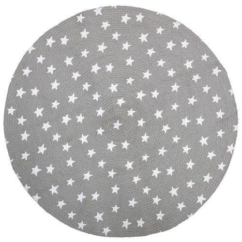 Bloomingville / Detský jutový koberček Stars Grey 100 cm