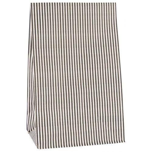 IB LAURSEN / Papierové vrecko Black Stripes - L