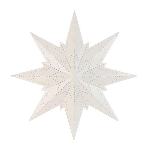 STAR TRADING / Plechová svietiaca hviezda White