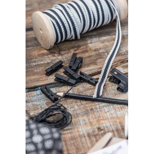 IB LAURSEN / Mini drevené štipce Black - 10 ks