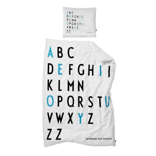 DESIGN LETTERS / Obliečky Baby Letters Turquoise 70x100