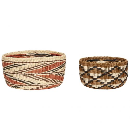Hübsch / Pletený košík Paper Rope Nature