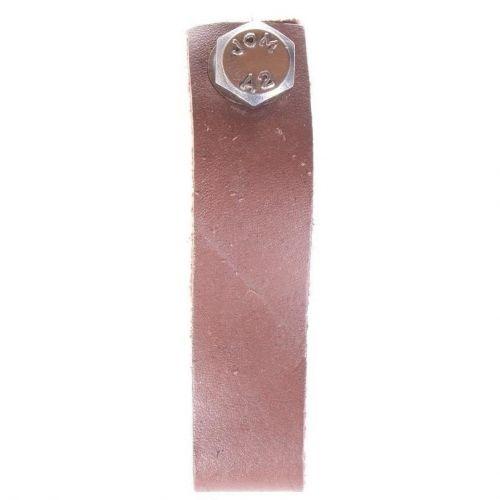 La finesse / Kožená úchytka stredne hnedá 9 cm