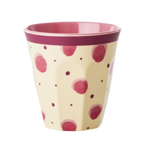 rice / Melamínový kalíšok Pink Watercolor Splash