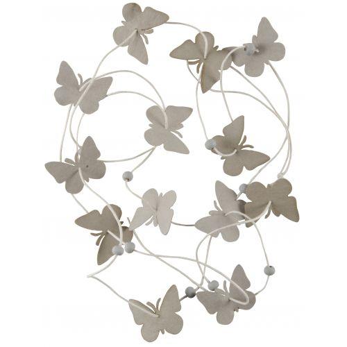 IB LAURSEN / Papierová girlanda Grey Butterflies