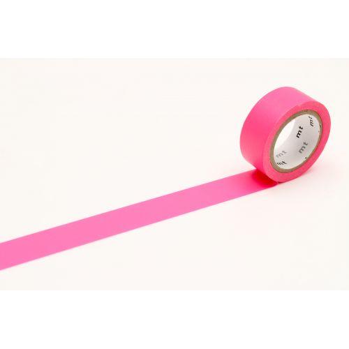 mt / Japonská papierová páska Fluorescent Pink