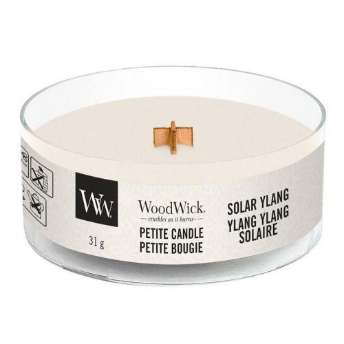 WoodWick / Vonná sviečka WoodWick Petite - Solar Ylang Ylang 31 g
