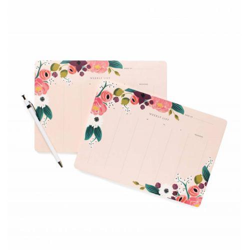 Rifle Paper Co. / Stolný týždenný plánovač Pink Floral