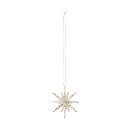 House Doctor / Ozdoba Spike silver glitter 7,5cm