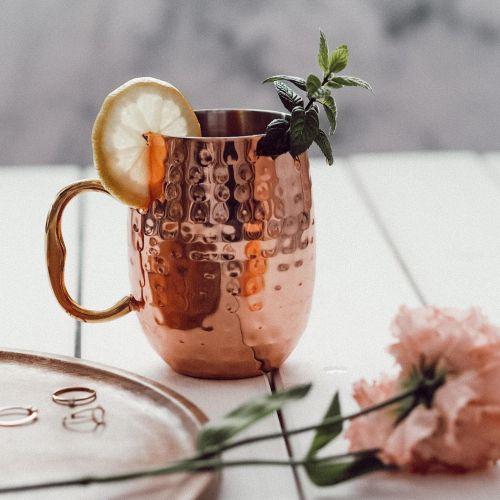 Bloomingville / Kovový hrnček Copper Mug 450 ml