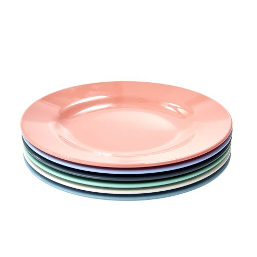 rice / Melamínové tanieriky Happy - set 6 ks